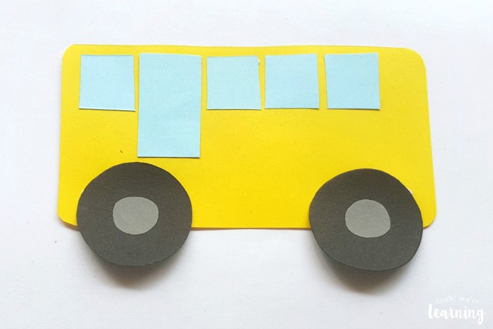 Simple Paper School Bus Craft to Make With Kids