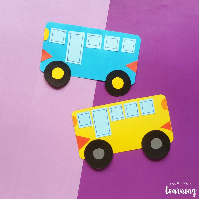 Simple School Bus Craft