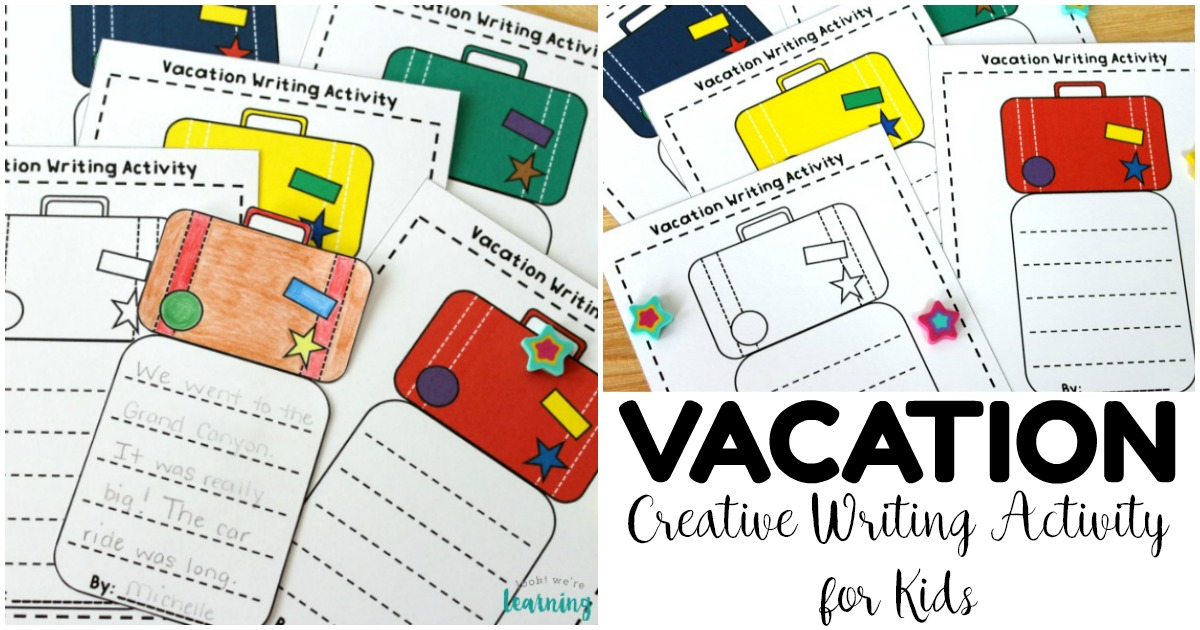 Simple Vacation Creative Writing Activity for Kids