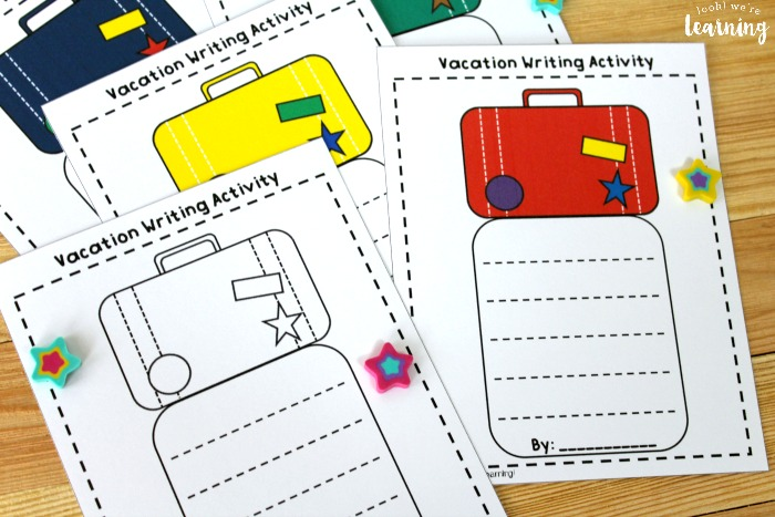 Summer Vacation Creative Writing Activity for Kids