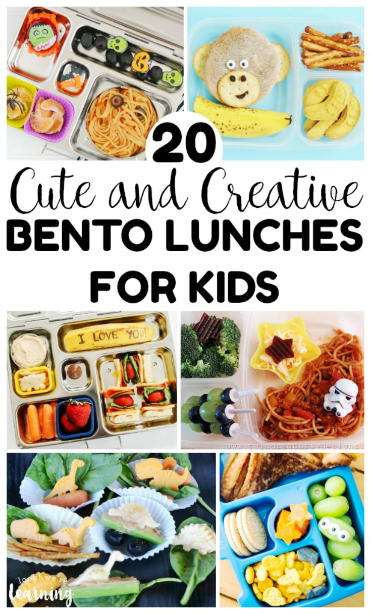 These cute and creative bento lunches for kids are perfect for busy school days, field trips, and more! These are so cute and tasty for little appetites!