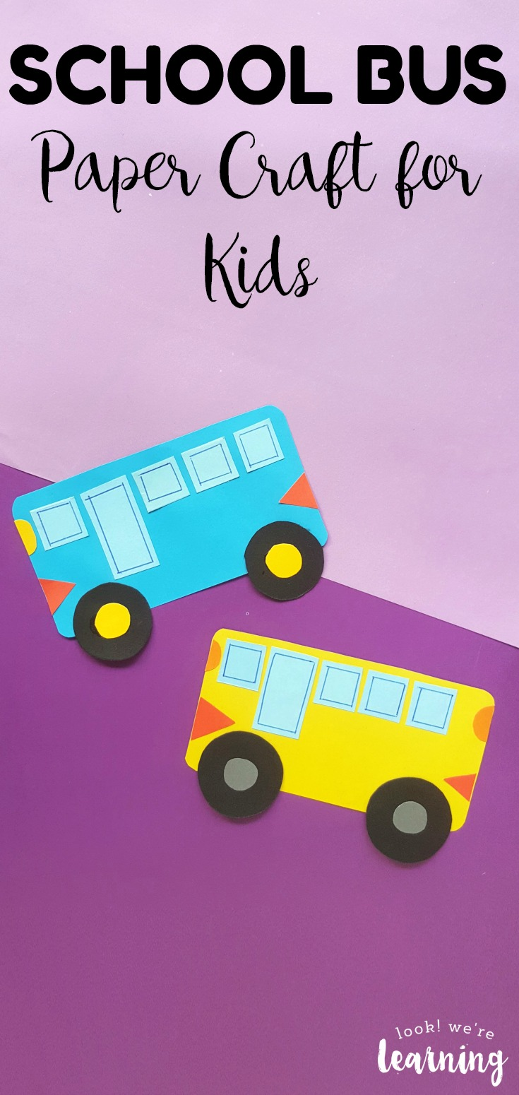 This fun and easy paper school bus craft is a great way to get kids excited about back to school! Make it with your little ones this year!