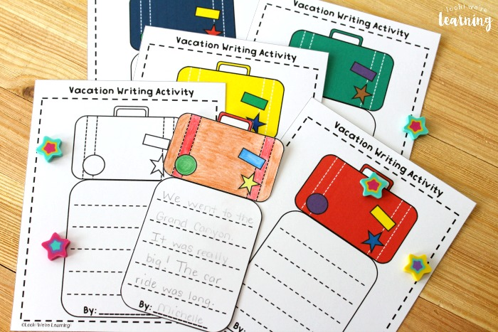 Vacation Creative Writing Activity for Early Writers