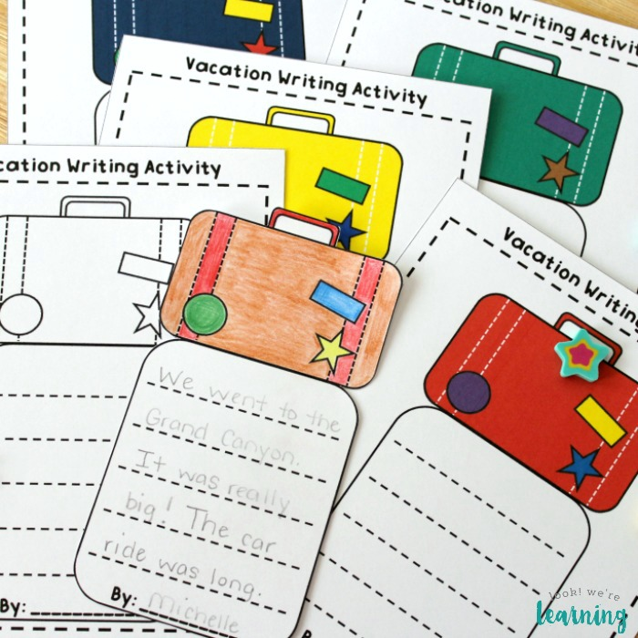 Vacation Creative Writing Activity for Kids