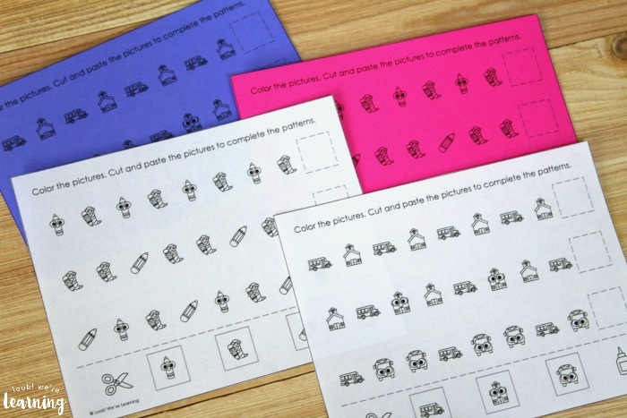 Back to School Pattern Activity for Kids