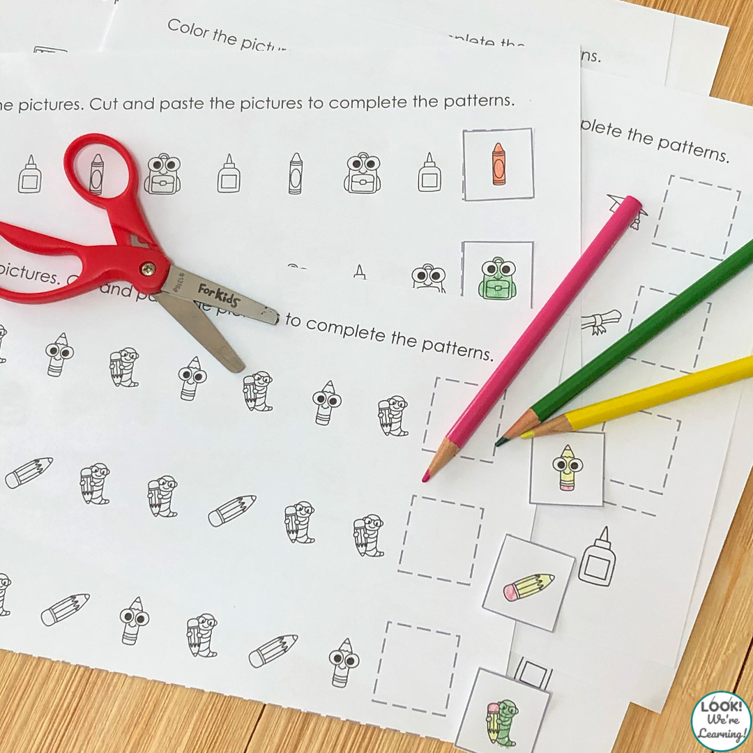 Back to School Patterning Activity Pages