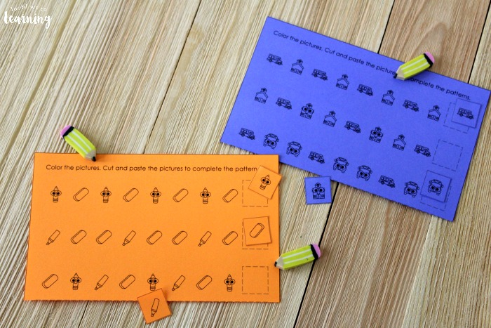 Easy Back to School Pattern Activity for Kids