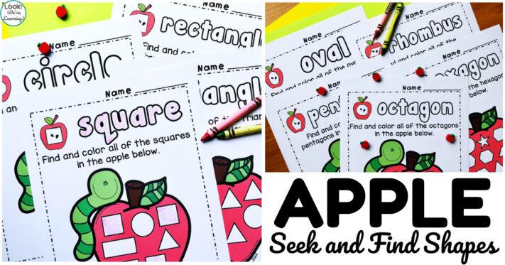 Fun Apple Shape Sorting Worksheets