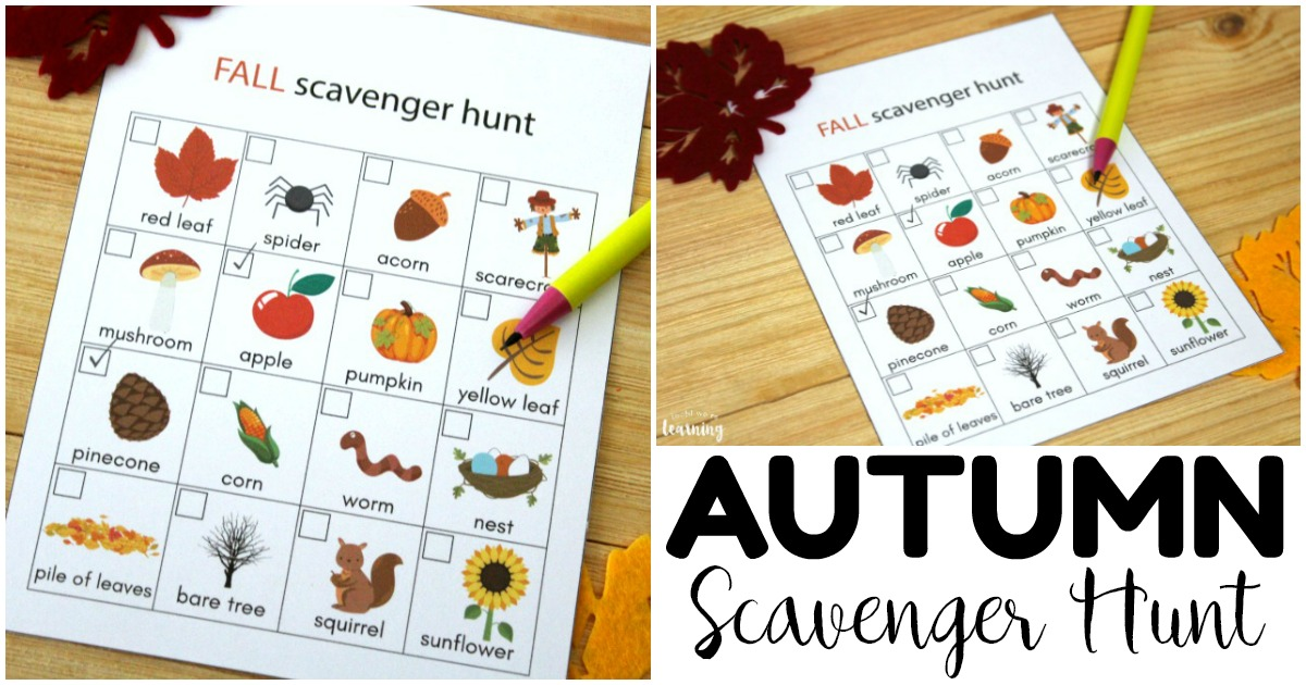 Fun Printable Fall Scavenger Hunt for Kids
