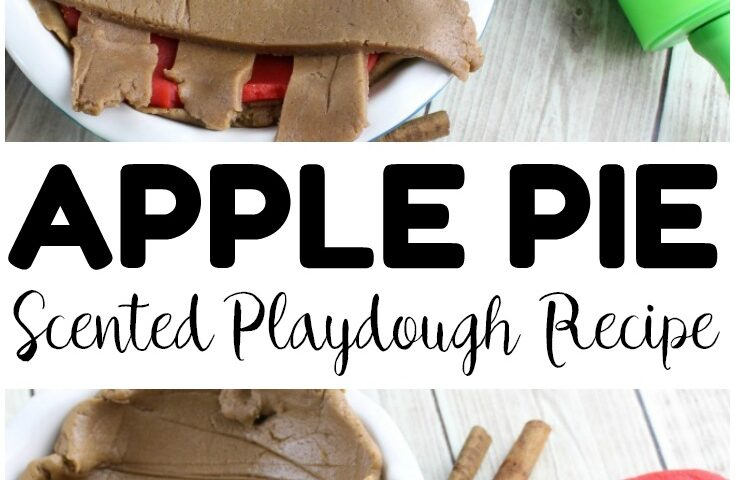 Fall Apple Pie Playdough for Kids