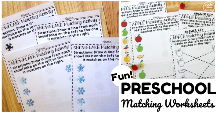 Preschool Matching Worksheets for Early Learners