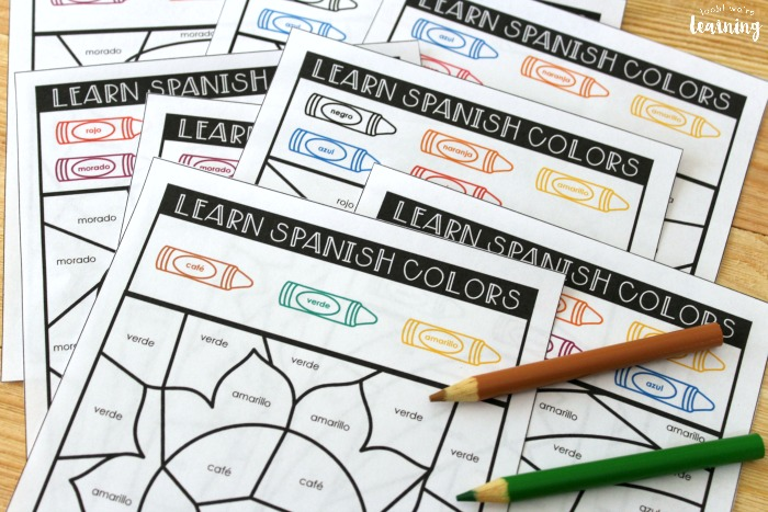 Printable Spanish Color Words Activity