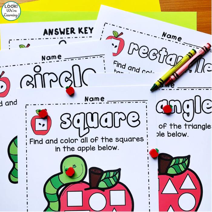 Shape Sorting Printables for Preschool and Kindergarten