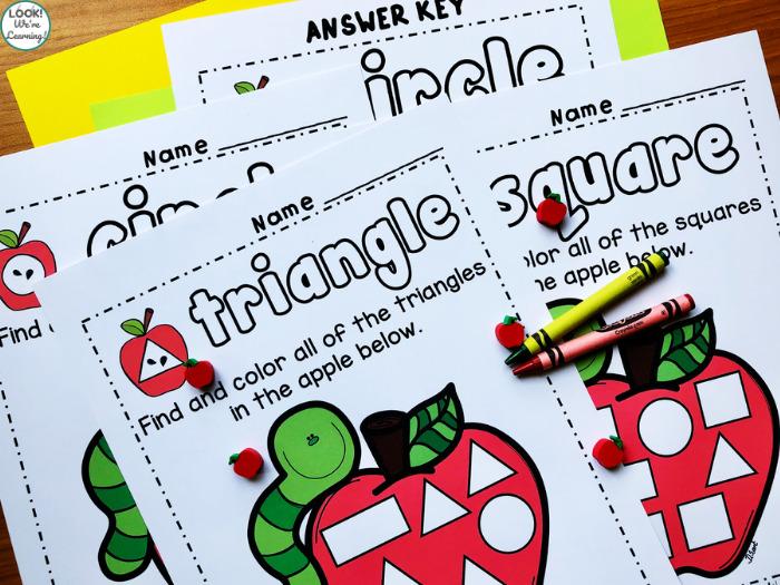 Shape Sorting Worksheets for Preschool