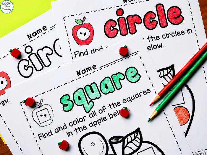 Shape Worksheets for Kindergarten Students