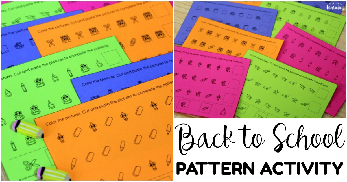 Simple Back to School Themed Pattern Activity