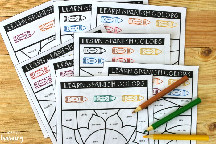 Spanish Color Words Activity