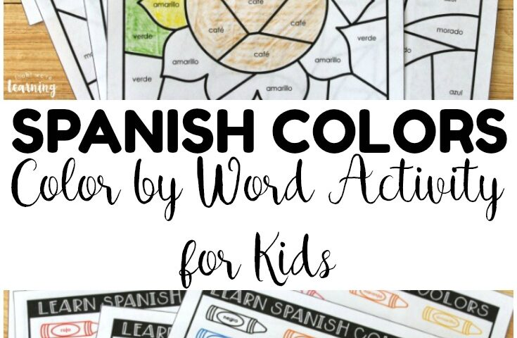 Aprendemos Colores! Spanish Color Words Activity
