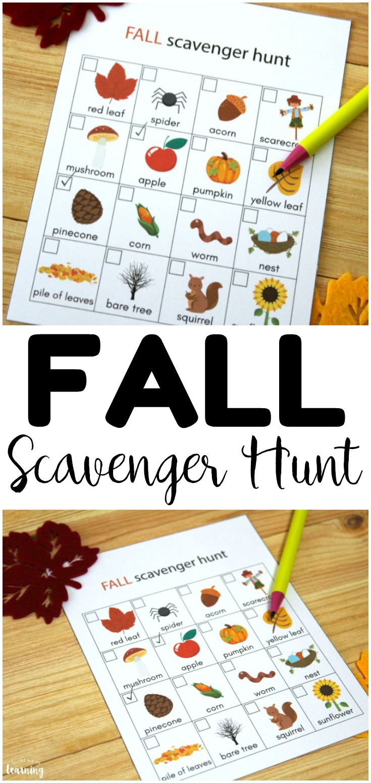 This printable fall scavenger hunt for kids is such a fun way to get outside with little ones this autumn!