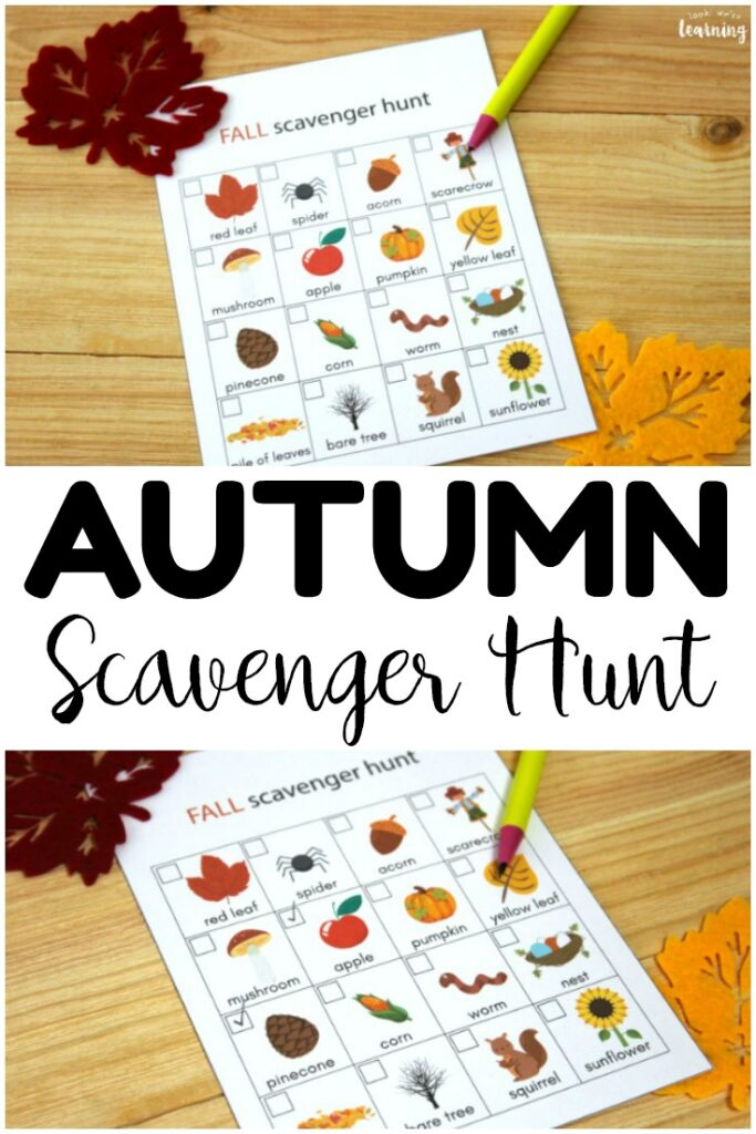This printable fall scavenger hunt is so fun for getting kids outside this autumn!