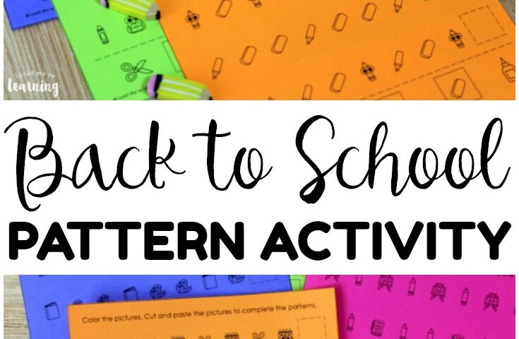 School Supply Patterns! Back to School Pattern Activity