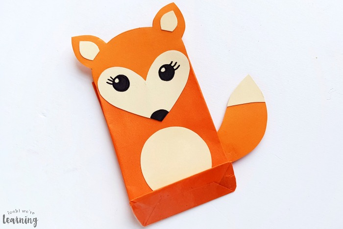 Cute Paper Bag Fox Craft for Kids