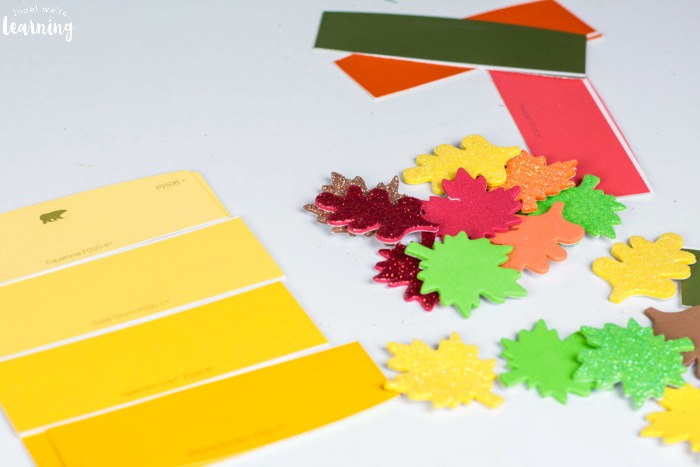Easy Fall Color Matching Activity for Preschoolers