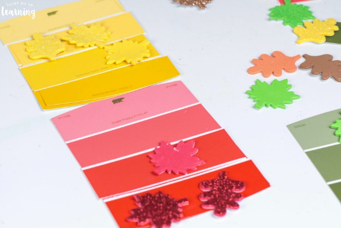 Easy Fall Color Matching Activity