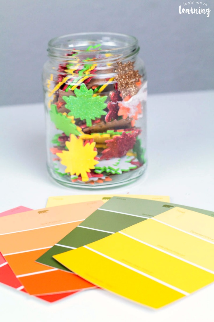 Easy Fall Leaf Color Matching Activity