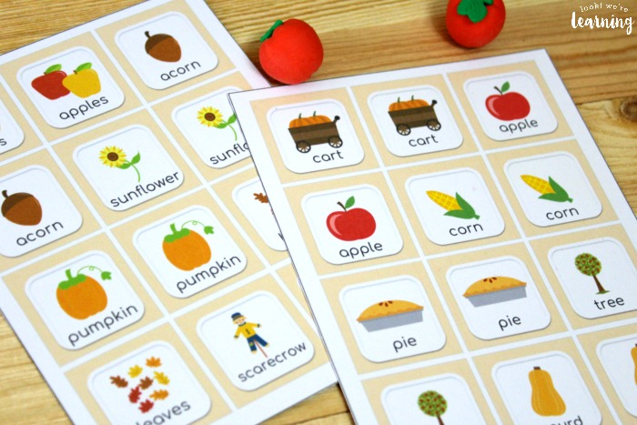 Easy Fall Memory Game for Kids