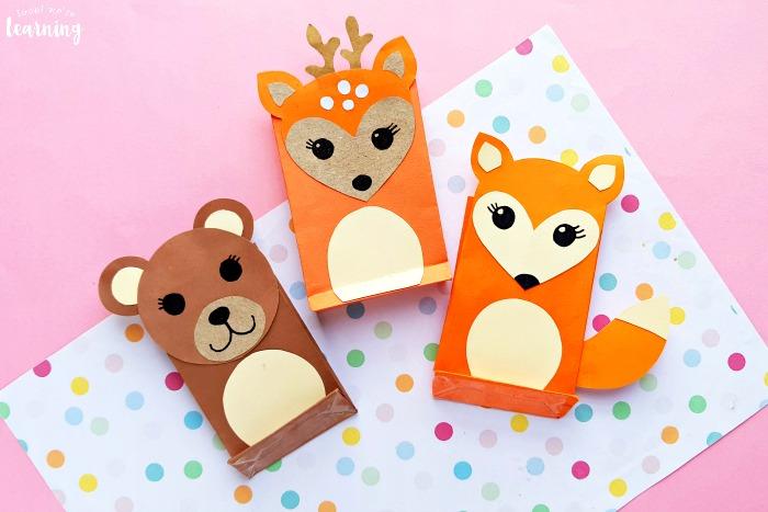 Easy Paper Bag Woodland Animal Crafts