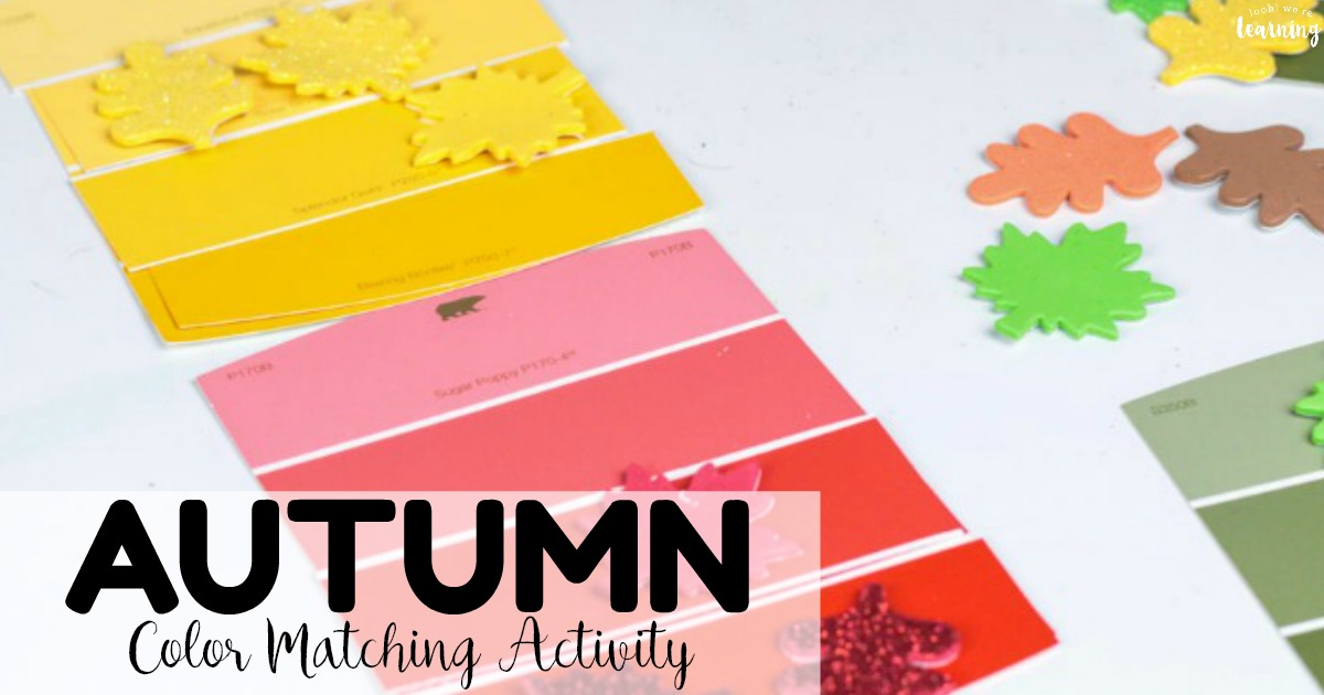 Easy Preschool Fall Color Matching Activity for Kids