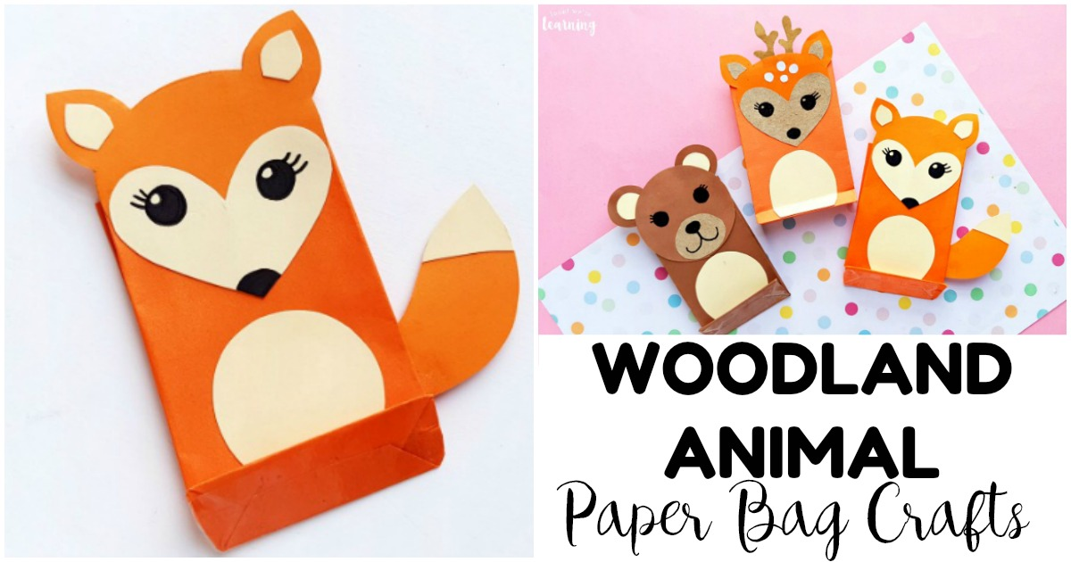 Easy and Fun Paper Bag Woodland Animal Crafts to Make