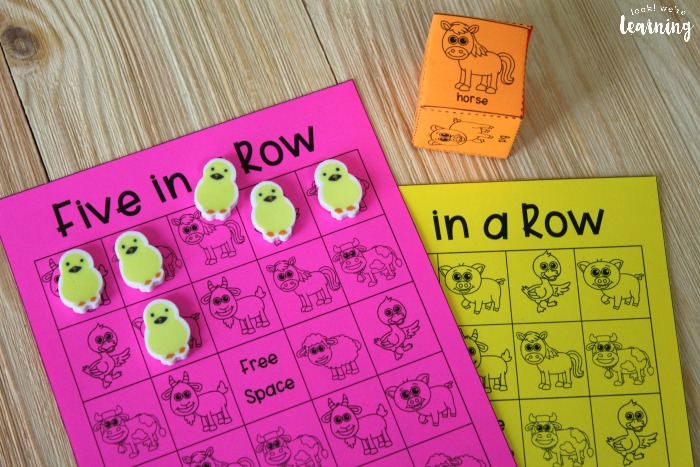 Five In a Row Farm Game for Kids
