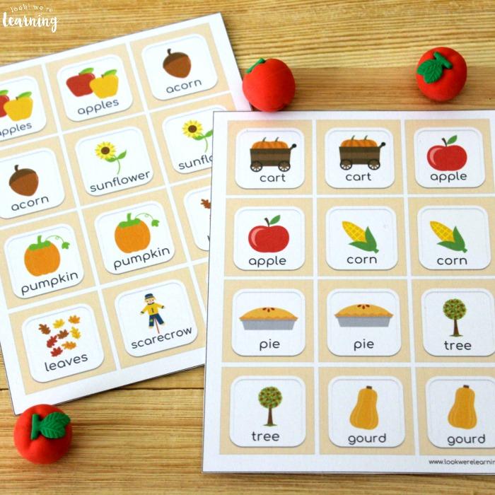 Fun Fall Memory Game for Kids