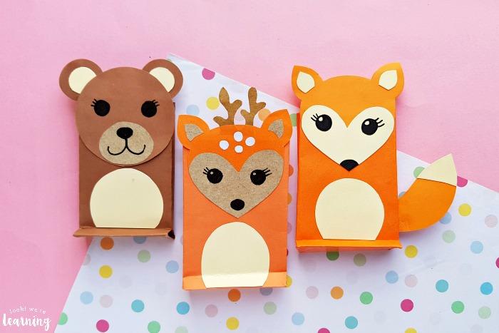 Fun Paper Bag Woodland Animal Crafts for Kids