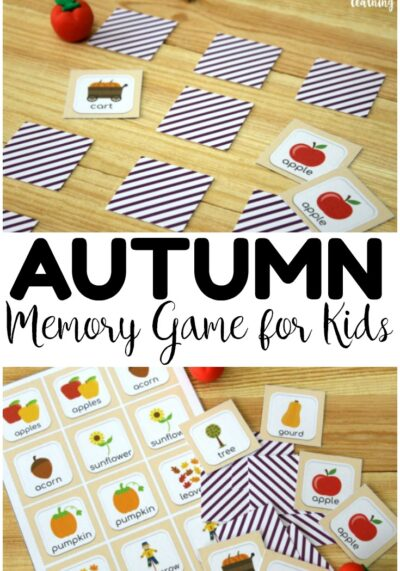 Make it easy to spot autumn sights around you with this fun and easy fall memory game for kids!