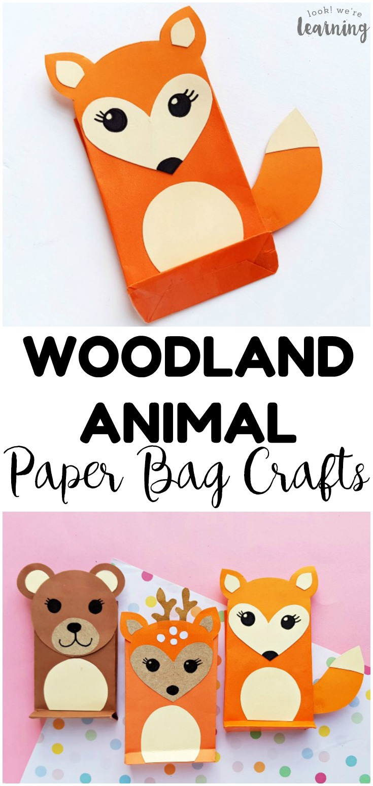 Make these easy paper bag woodland animal crafts with the kids this fall! Perfect for a forest unit!