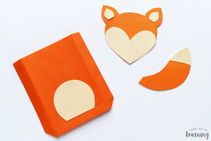 Making a Paper Bag Fox Craft for Kids