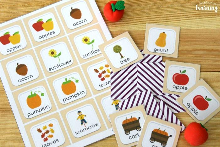 Printable Fall Memory Game for Kids