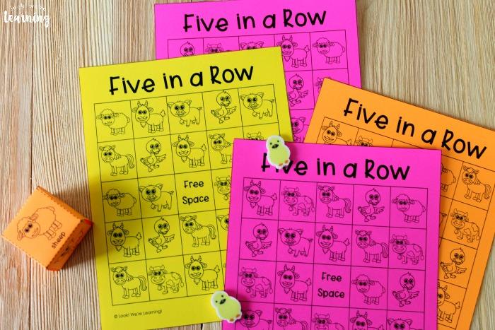 Printable Farm Game for Kids
