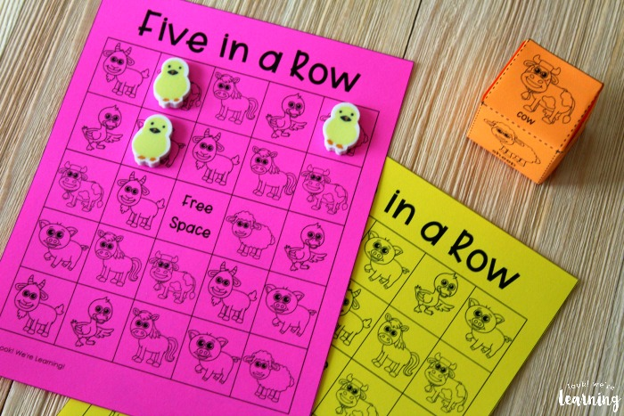 Printable Five In a Row Game for Kids