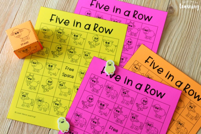 Printable Five In a Row Game