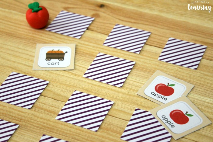 Simple Fall Memory Game for Kids