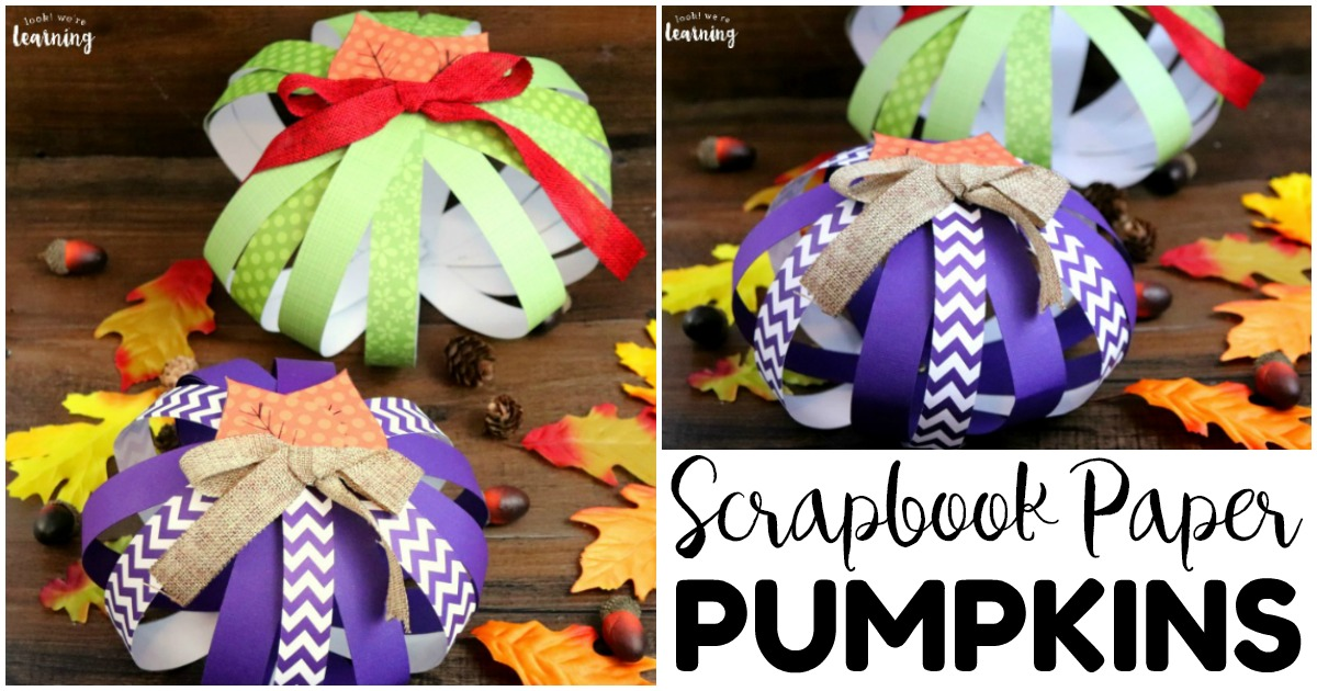 DIY Scrapbook Paper Pumpkin Craft