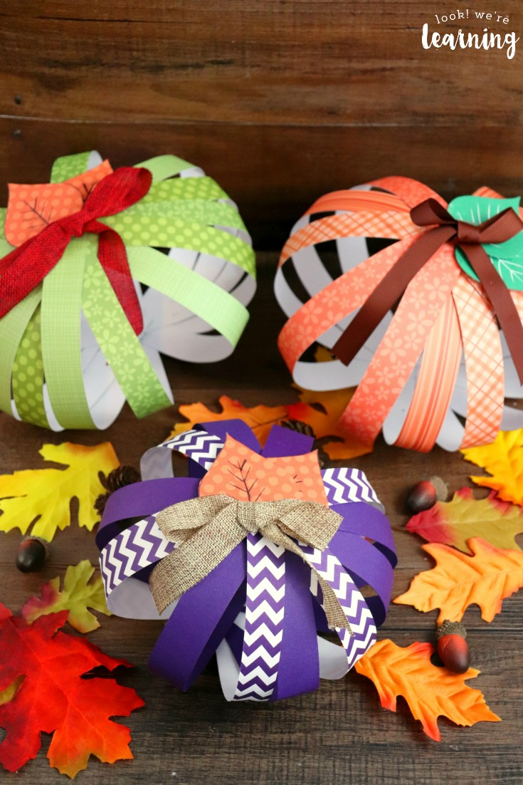 Easy Scrapbook Paper Pumpkin Craft for Kids