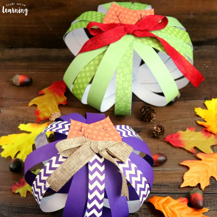 Fall Paper Pumpkins Craft for Kids
