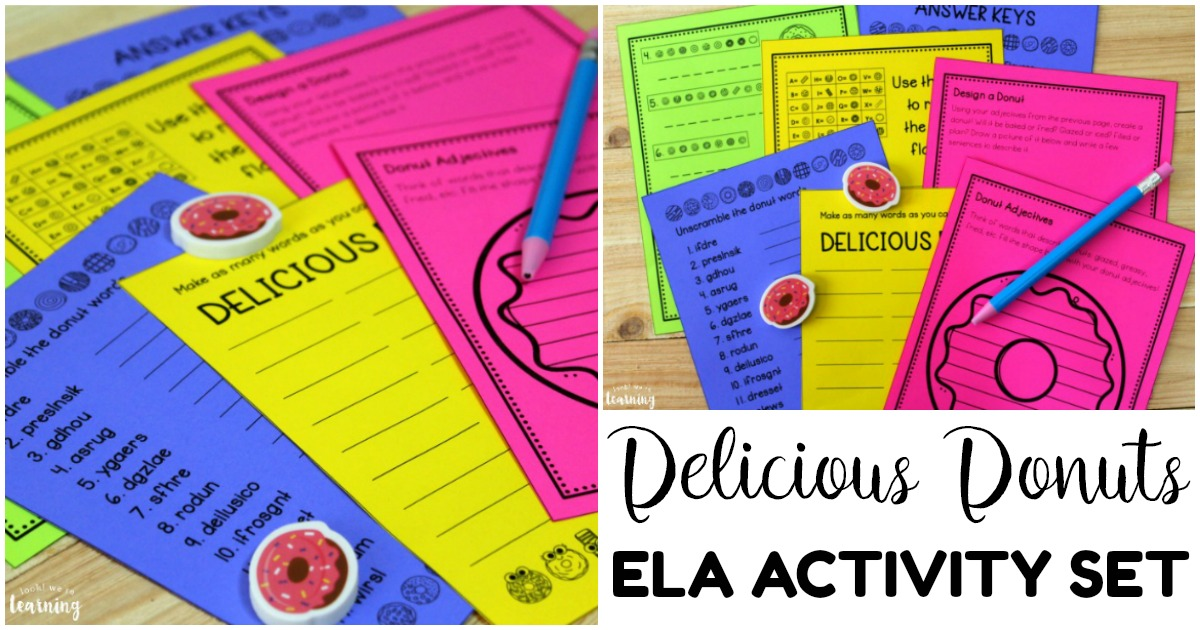 Fun Delicious Donuts Themed ELA Activity Set