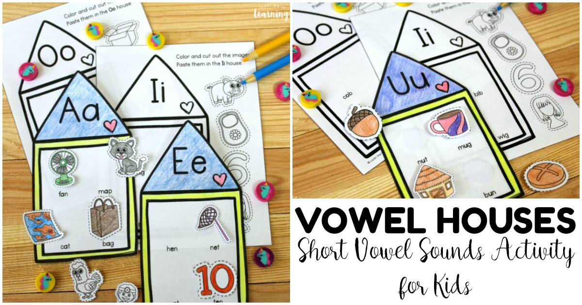 Fun Vowel Houses Short Vowel Sounds Activity for Kids