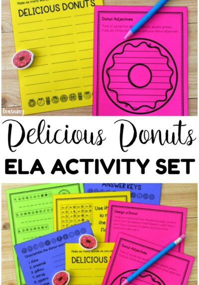 Have a sweet ELA lesson with this delicious donuts ELA activity set! Several ELA activities with a fun donut theme!